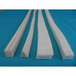 Upright treable damper felt strips